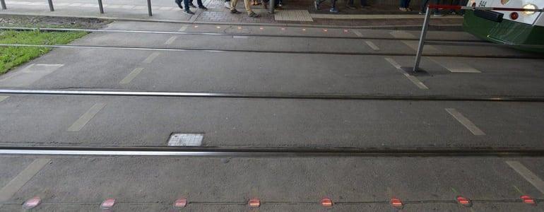 Augsburg traffic lights on ground