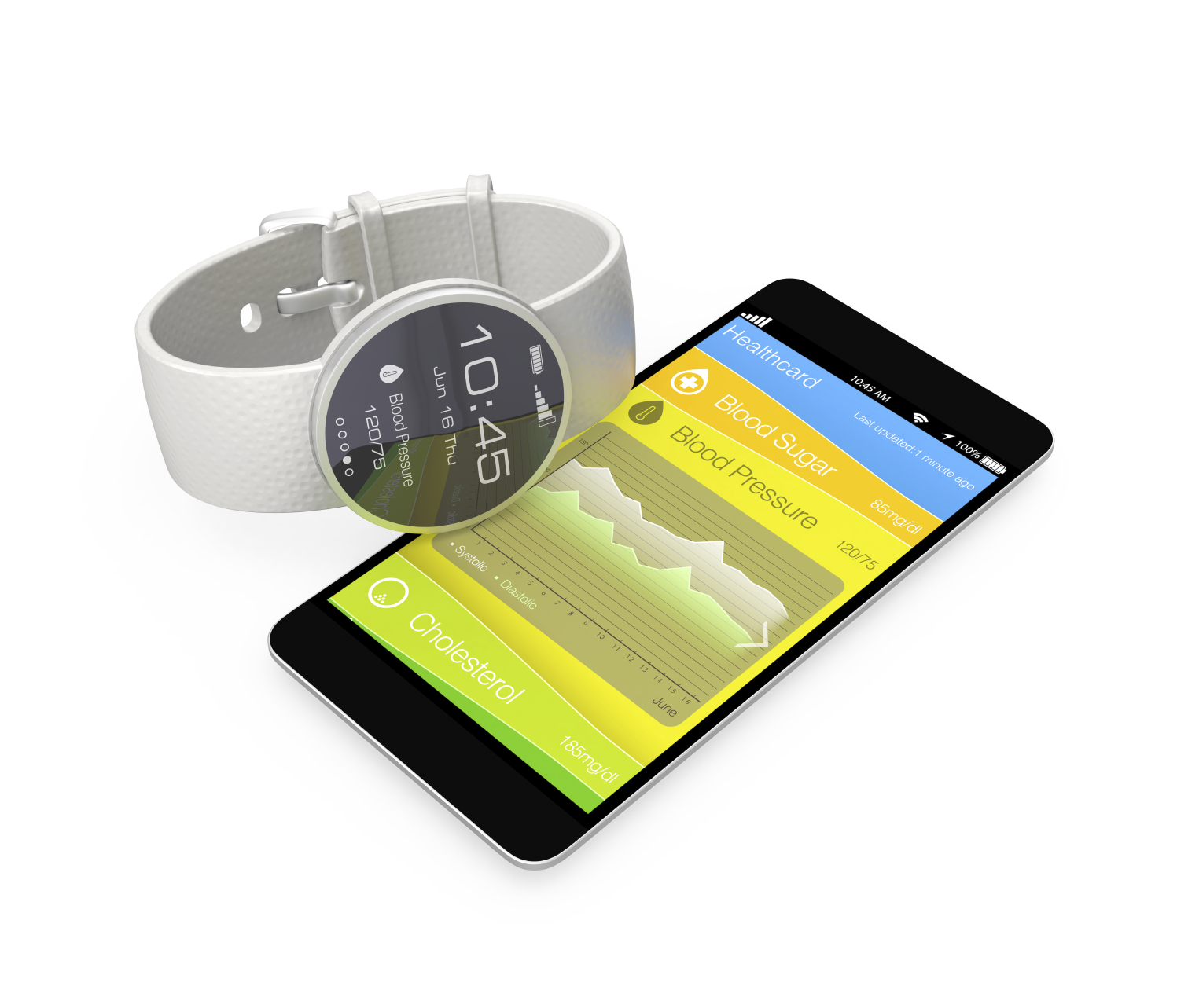 Smart watch connected to a phone