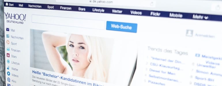 Yahoo Online Website