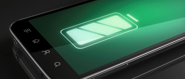 battery indicator on a smartphone