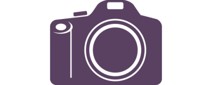 Digital cameras icon purple